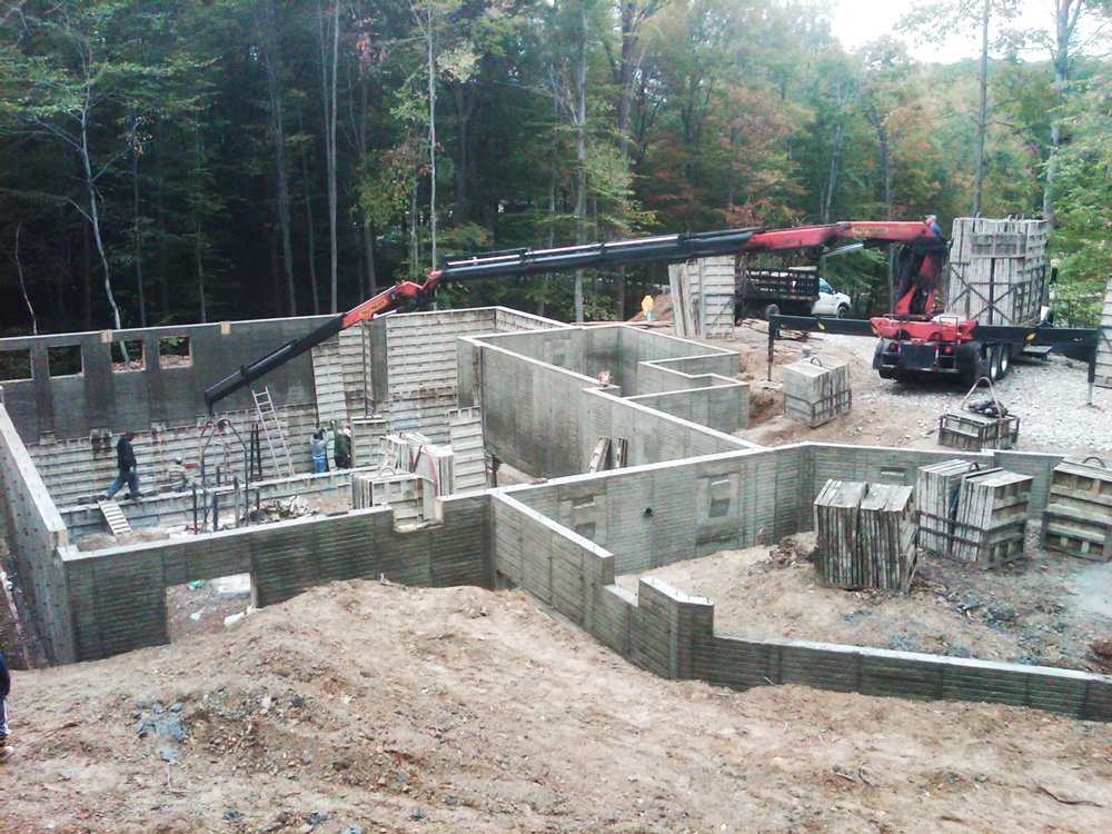 wide photo of foundation walls