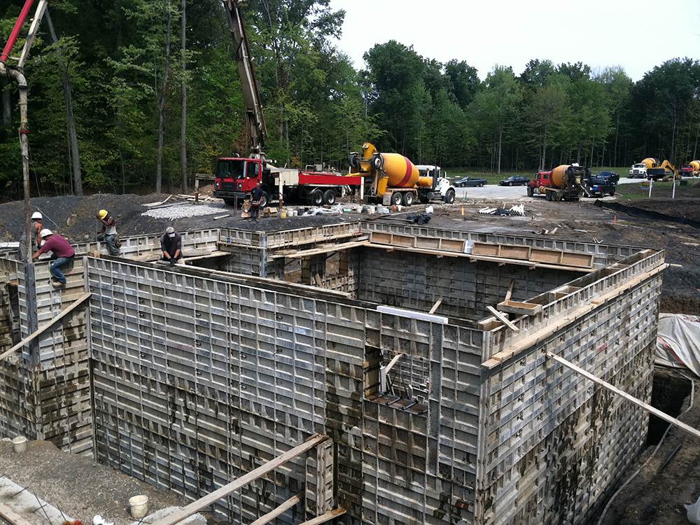 multi story poured foundation walls