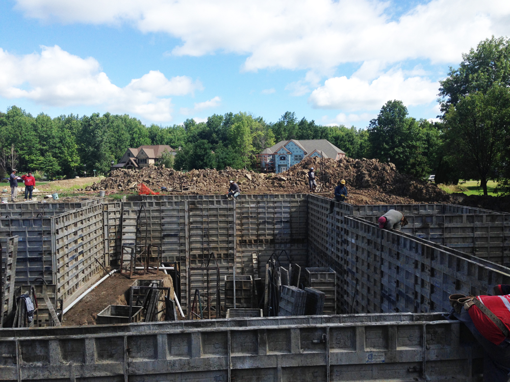 multi-level poured foundation