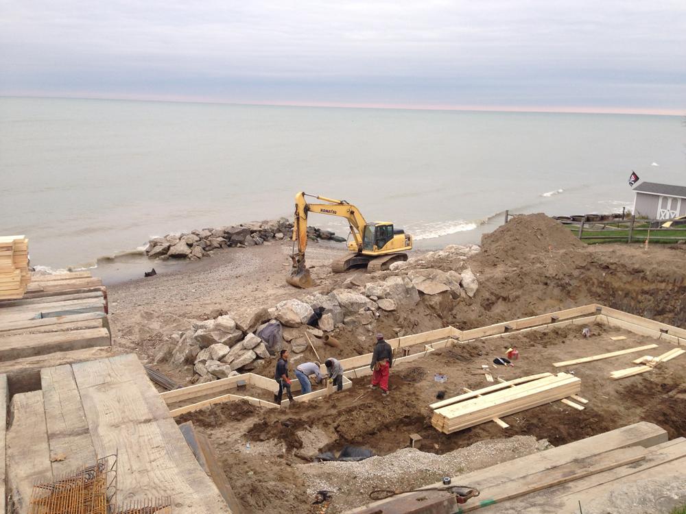 foundation prep on the lake