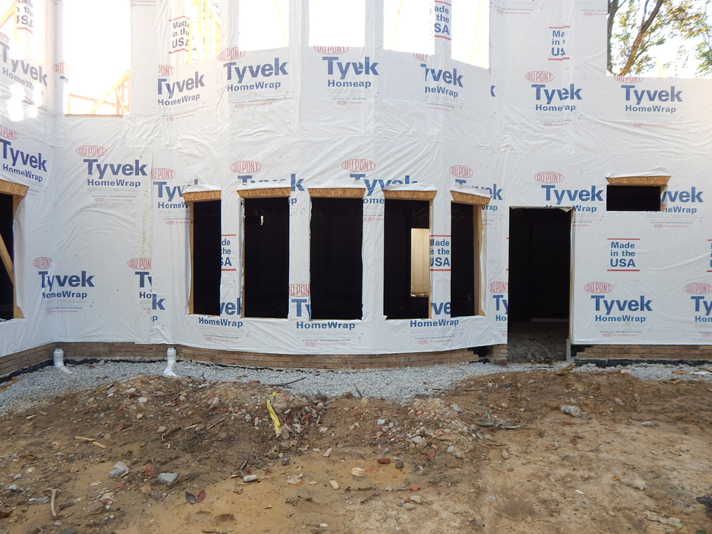 home with tyvek wrap